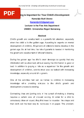 View Vol. 1 No. 3 (2020): Drawing is Important for Your Child's Development